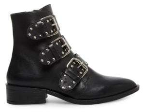 Steven by Steve Madden Heller Buckled Leather Booties
