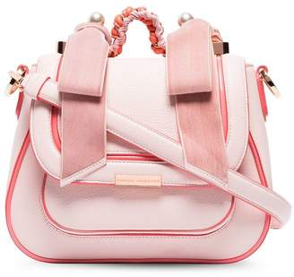 Sophia Webster pink Eloise pearl leather shoulder bag