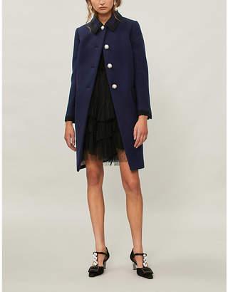 Miu Miu Point-collar wool coat