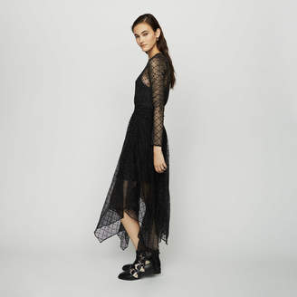 Maje Dress in tulle with plumetis