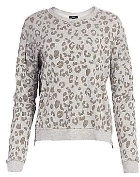 Rails Women's Marlo Flocked Leopard Print Sweatshirt