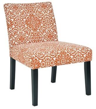 Homesvale Nunn Chair Set in Orange Damask