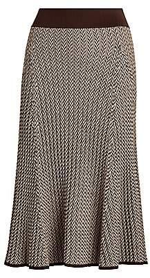 Polo Ralph Lauren Herringbone Ribbed Wool Skirt