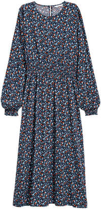 H&M Long-sleeved Dress - Blue