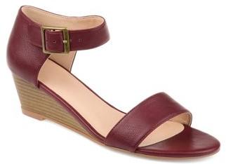 Brinley Co. Women's Open-toe Ankle Strap Wedge Sandal