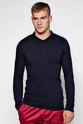 Langärmeliges, körperbetontes Polo-Hemd