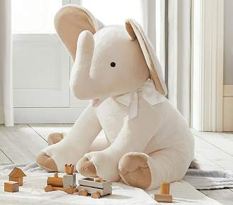 Pottery Barn Kids Monique Lhuillier Jumbo Plush- Ivory Elephant