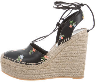 Saint Laurent Saint Laurent Leather Espadrille Wedges w/ Tags