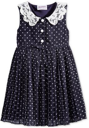 Blueberi Boulevard Dot-Print Lace-Collar Dress, Baby Girls $34 thestylecure.com