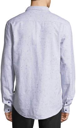 Civil Society Men's Sal Long-Sleeve Snowflake Slub Shirt