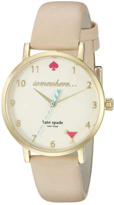 Kate Spade Women's Metro 5 O'Clock 1YRU0484 Gold/Vachetta 1 Watch