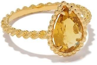 Boucheron 18kt yellow gold Serpent Bohème citrine ring