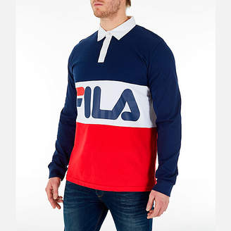 Fila Men's Harley Rugby Long Sleeve Collared Shirt