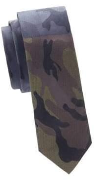 Valentino Camouflage Slim Silk Tie