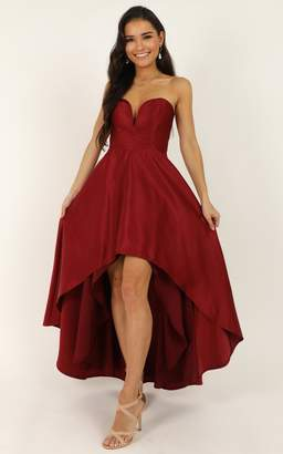 Showpo Dancing With Our Hands Tied Dress in wine - 4 (XXS) Dresses