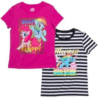 My Little Pony Rainbow Dash Graphic T-Shirts, 2-Pack Set (Little Girls & Big Girls)