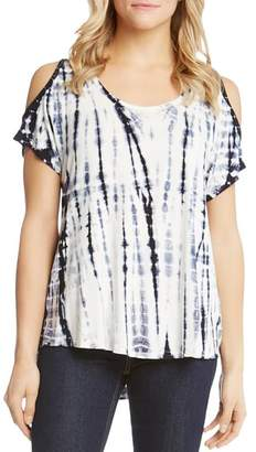 Karen Kane Tie-Dye Cold-Shoulder Top