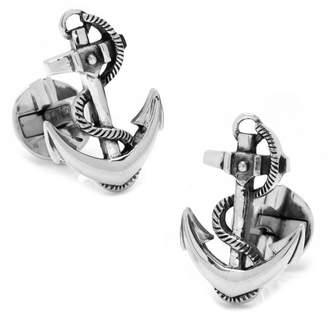 Cufflinks Inc. Sterling Boat Anchor Cufflinks