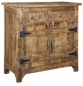 Crestview Collection Bengal Manor Mango Wood 2 Drawer Door Cabinet