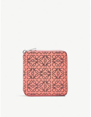 Loewe Square anagram leather zip wallet