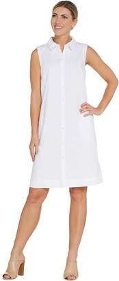 Joan Rivers Classics Collection Joan Rivers Petite Sleeveless Denim Dress with Pockets