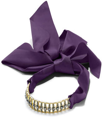 INC International Concepts I.N.C. Pavé Bar & Satin Ribbon Choker Necklace, Created for Macy's