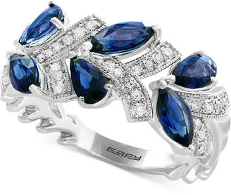 Effy Royale Blue by Sapphire (1-3/4 ct. t.w.) & Diamond (1/8 ct. t.w.) Ring in 14k White Gold