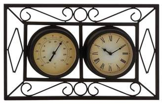 Benzara Attractive Metal Wall Clock