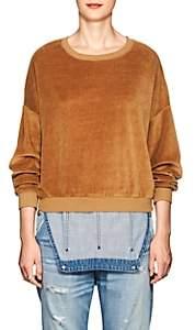 NSF Women's Farah Cotton-Blend Velour Sweatshirt - Gold