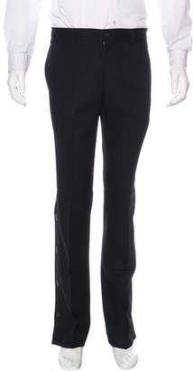 Burberry Button-Accented Wool Pants