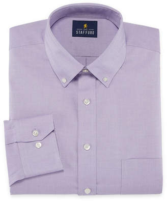 STAFFORD Stafford Executive Non-Iron Cotton Pinpoint Oxford Big And Tall Long Sleeve Stripe Dress Shirt