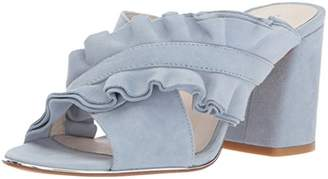 Kenneth Cole New York Women's Laken Ruffled Strap Slide Heeled Sandal