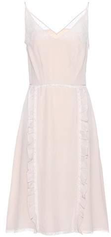 Prada Ruffled silk dress