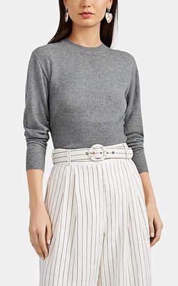 Barneys New York Women's Active Cashmere® Crewneck Crop Sweater - Gray
