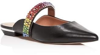 Kurt Geiger Women's Princely Embellished Pointed-Toe Mules