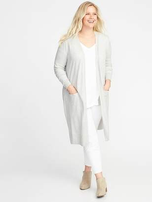 Old Navy Super-Long Open-Front Plus-Size Sweater