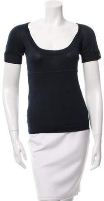 CNC Costume National Scoop Neck Short Sleeve Top