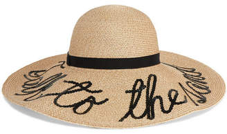 Eugenia Kim Talk To The Sand Embellished Straw Sunhat - Ivory