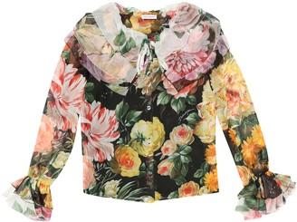 Dolce & Gabbana Kids Floral silk georgette blouse