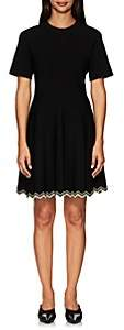 Proenza Schouler Women's Compact-Knit Flounce Dress - Black