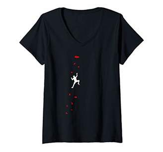Womens Climbing And Bouldering In The Climbing Gym V-Neck T-Shirt