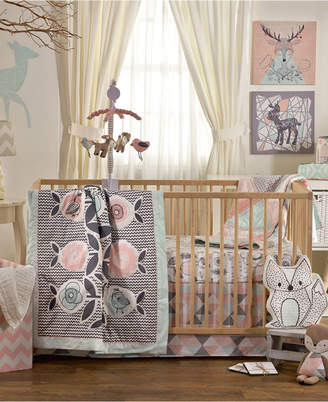 Living Textiles Lolli Living Sparrow - 4 Piece Crib Bedding Set