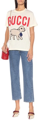 Gucci Embellished cotton T-shirt