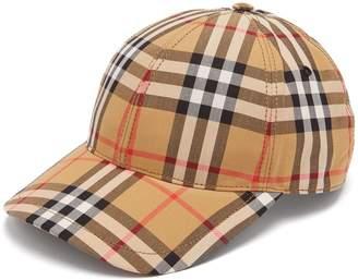 Burberry Vintage Check cotton cap
