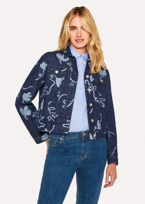 Paul Smith Women's Indigo 'Acapulco' Print Denim Jacket