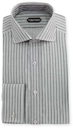 65abebadcd Tom Ford Slim-Fit Striped Cotton-Viscose Dress Shirt