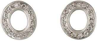 Malcolm Betts Women's Open Disc Stud Earrings