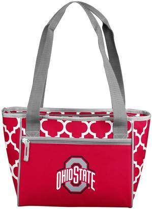 NCAA Logo Brand Ohio State Buckeyes Quatrefoil 16-Can Cooler Tote