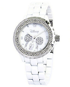 Disney Women's Mickey White Enamel Watch $69.99 thestylecure.com