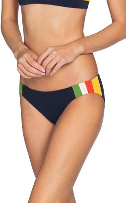 Robin Piccone Casey Side Colorblock Bikini Bottoms